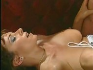 Vintage porn video featuring busty Italian stepmother tempting young guy with her round shapes 9