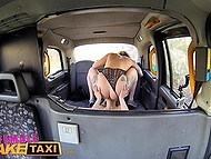 Tattooed British taxi driver tastes real Dutch pussy of her passenger in backseat 8