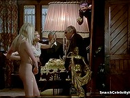 Fragment from full-length vintage movie starring naked actress Solange Blondeau 7