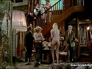 Fragment from full-length vintage movie starring naked actress Solange Blondeau 9