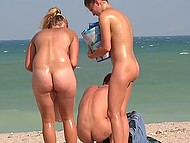 Guy relaxes at nudist beach and secretly turns on camera to film gorgeous Croatian girls 8