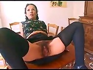 Lustful Arab mature looks for every opportunity to be fucked and tries double penetration sometimes 6