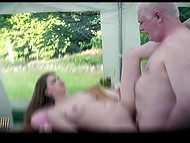 Teen babe Amanda Clarke doesn't have money to buy all things she wants and sex with old man gives her discount 5