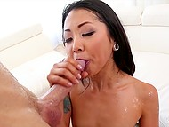 Asian girl with tiny tits can squirt very often and young fucker actively fucks and fingers her vagina 6