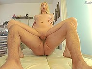 Fetching blonde girl dreams of being a porn actress and she hopes that casting will help her fulfill it 7