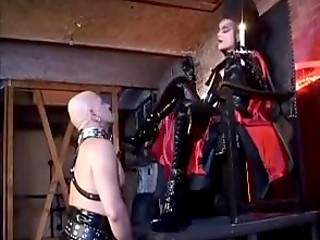 Mistress dominates her helpless slaveы