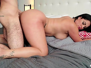 There is nothing better for Latina MILF with huge tits and ass than cocksucking before doggystyle