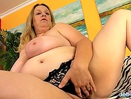 Fatty woman has insatiable sexual appetite and man with massive cock hurries to fuck her 4