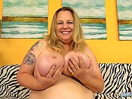 Fatty woman has insatiable sexual appetite and man with massive cock hurries to fuck her 6
