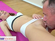 Athletic yoga instructor fucks winning babe Veronica Clark because soul harmony isn't enough 4