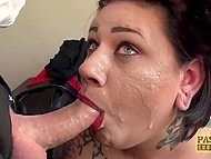 Fat inked wrench gets in hands of rude mature fucker and is humiliated but she doesn't regret at all 7