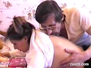 Young russian girl gets fucked by her depraved father