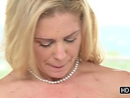 Man knows that his darling Cherie Deville likes to ride cock and they don't change position for a long time 4