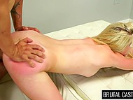 Amateur chick didn't know she came to brutal porn casting so why she should suffer humiliation 6
