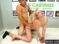 Amateur chick didn't know she came to brutal porn casting so why she should suffer humiliation 8