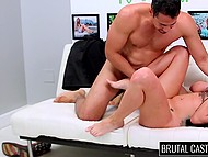 Hardcore casting session impresses amateur girl a lot because she gets tied, gagged, and fucked 5