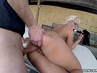 Good-time girl with sexy glasses allows partner to screw her pussy and ass with no breaks 10