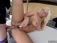 Good-time girl with sexy glasses allows partner to screw her pussy and ass with no breaks 4