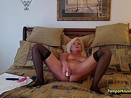 Mature housewife decided to play with vibrators on camera for personal video collection 11
