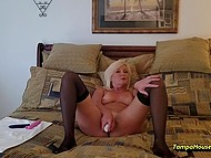 Mature housewife decided to play with vibrators on camera for personal video collection 8
