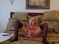 Mature housewife decided to play with vibrators on camera for personal video collection 9
