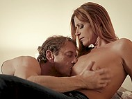 Man and his mistress India Summer culminated evening with hot sex at their place 6