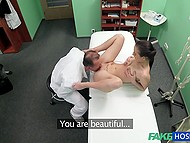 Handsome Czech doctor and innocent patient have amazing sex right in his cabinet 3