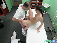 Handsome Czech doctor and innocent patient have amazing sex right in his cabinet 4