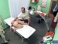 Handsome Czech doctor and innocent patient have amazing sex right in his cabinet 5
