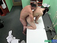 Handsome Czech doctor and innocent patient have amazing sex right in his cabinet 8