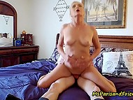 Mature blonde shares sexual experience with young guy and films this on camera 10