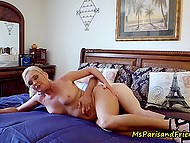 Mature blonde shares sexual experience with young guy and films this on camera 8
