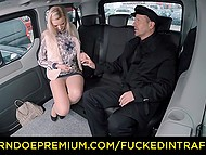 Sweet daughter of rich Czech parents fucked well in backseat by their personal driver 5
