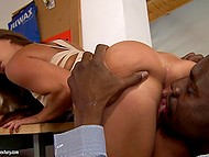 Black man promises to give Amirah Adara a bike ride if she will take his massive cock in ass 3