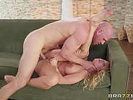 Rehearsal of princess Britney Amber and bald knight Johnny Sins is interrupted because of fucking