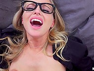 Student needs somebody to help him study and attractive blonde nerd realizes that it's her chance to be fucked 5