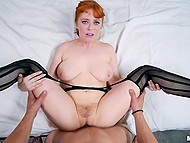Boyfriend fucks pussy of sexy redhead Penny Pax the way she likes and ejaculates on face 5