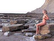 Charming model spends early morning in picturesque place being absolutely naked 9