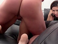 Sex audition in director's cabinet culminates for slender candidate with anal creampie 7