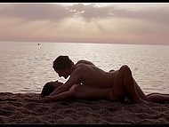 Skinny Spanish girl Julia Roca is filled with excitement and boyfriend makes love to her on the beach 10