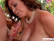 Guy fucks hot MILF with impressive knockers and she is so happy that there are no words to describe it 11