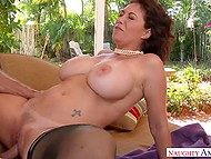 Guy fucks hot MILF with impressive knockers and she is so happy that there are no words to describe it 8
