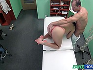 No resistance from love so doctor dares to go forward show his cock in patient's pussy 5