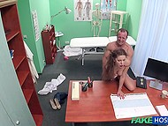 Winsome Czech girl forgets about abdominal pain after doctor fucks her pussy in the office 6