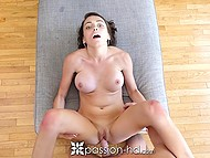 Busty beauty Ashley Anderson and boyfriend practice sixty-nine position before lovemaking 10