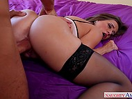 MILF with taut bottom experienced the wildest satisfaction clean-cut man gave her in bed