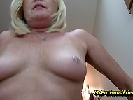 Divorced woman is happy to see stepson who will give her a cock ride on camera very soon 8