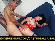 Girl was training for so long before that day and now she is at porn casting being fucked in all her skillful holes 7