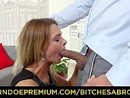 Lucky buddy picks up beautiful tourist and brings at his apartment for uncompromising sex 8