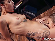 Bored librarian Evelin Stone did everything to lure Britney Amber into hot lesbian sex 7